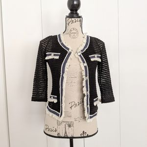 Coco Paris Style Trim Knitted Cardigan